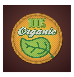 Organic fabric badge vector image