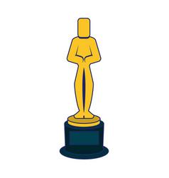 Oscar award trophy vector