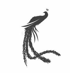 Peacock silhouette design template vector