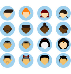 people in different races avatar isolated vector image