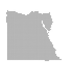pixel map of egypt dotted map of egypt isolated vector image