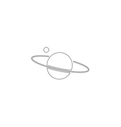 planet saturn flat icon vector image