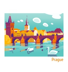 Prague charles bridge vector