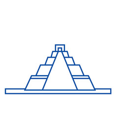 Pyramid line icon concept pyramid flat vector