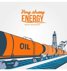 Railroad tank wagon on a white background vector image