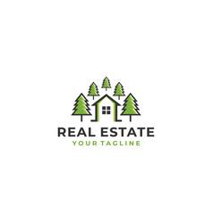 real estate design template vector image