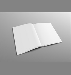 Realistic 3d perspective blank clear opened vector