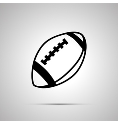 Rugby ball simple black icon vector image
