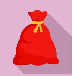 santa sack icon flat style vector image