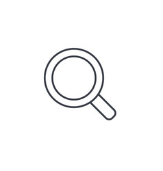 Search magnifying glass thin line icon linear vector