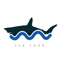 Shark sea food vector