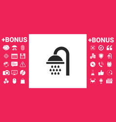 shower icon symbol vector image