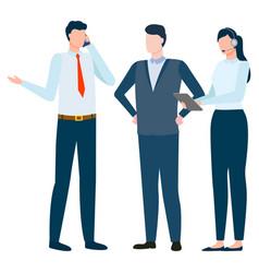 Teamwork and international business employees vector