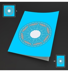 Textbook Booklet or Notebook Mockup Ethnic Circle vector