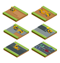 transport for laying and repair asphalt vector image