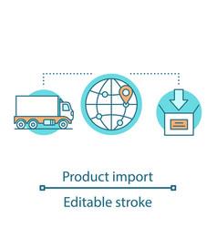 Transportation concept icon vector