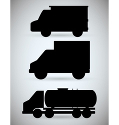 Truck design transportation icon silhouette vector
