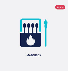 Two color matchbox icon from outdoor activities vector