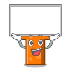 up board arrow character cartoon style vector image