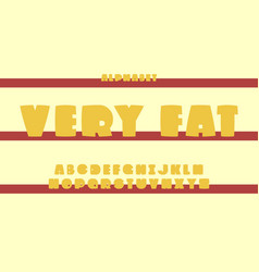 very fat font alphabet vector image