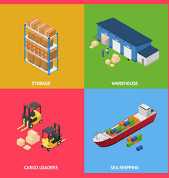 warehouse transportation delivery cargo logistic vector image