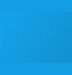 white jigsaw puzzle blank simple background vector image