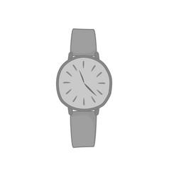 Wristwatch grey analog fashion style item vector