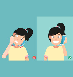 Wrong and correct positions vector