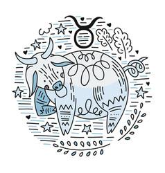 zodiac signes taurus vector image