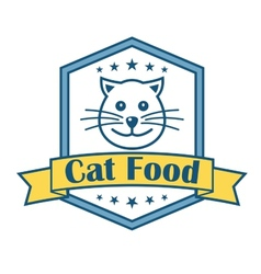 Cat food label vector image