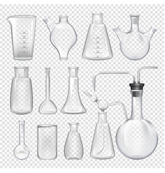 equipment for chemical laboratory different vials vector image vector image