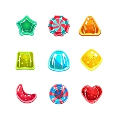 Glossy Colourful Candies of Various Shapes vector image vector image