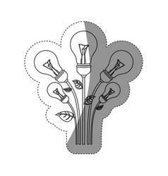 normal save bulbs plant icon vector image