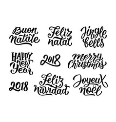 Quotes for christmas and new year 2018 decoration vector
