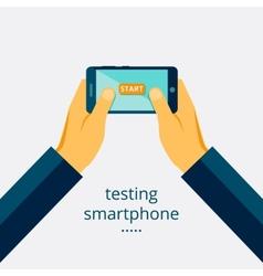 Smartphone testing vector image