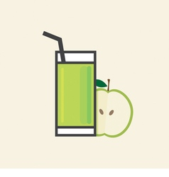 Healthy Refreshment A Glass Of Apple Fruit Juice vector image