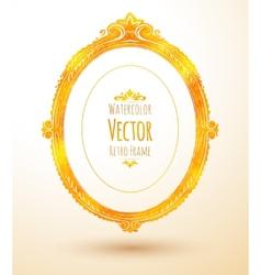 Oval vintage frame vector image