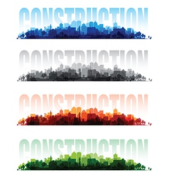 construction banners vector image vector image