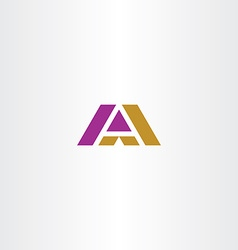 dark yellow and purple letter a logo icon vector image vector image