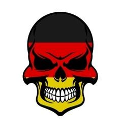 Germany flag colors on danger skull vector image
