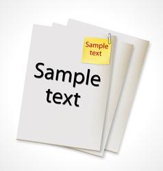 vector paper banner vector image vector image