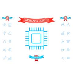 cpu symbol icon vector image