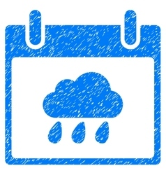 Rain Cloud Calendar Day Grainy Texture Icon vector image vector image