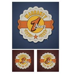 warranty term fabric badge vector image