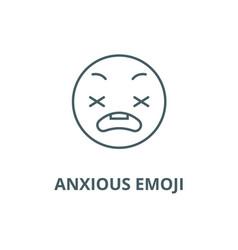 Anxious emoji line icon emoji vector