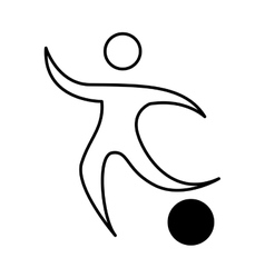 athlete figure human with balloon icon vector image