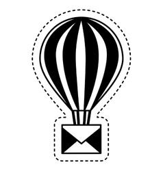 Balloon air hot with envelope vector