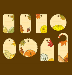 Big set of labels whith simbol autumn vector