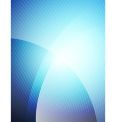 Business blue wave template vector image