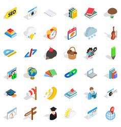 calendar icons set isometric style vector image